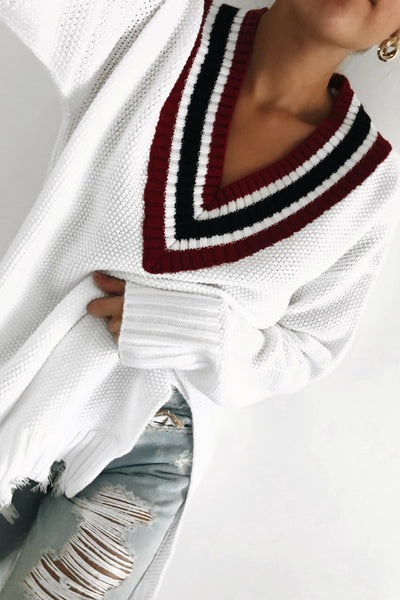 CHEERLEADER SWEATER - WHITE