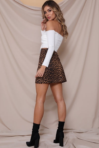 MEOW MINI SKIRT - LEOPARD