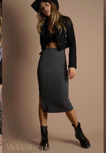 MANIAH SKIRT - Grey/Black