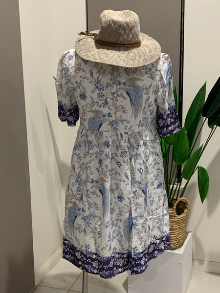 AVIANNA DRESS - BLUE