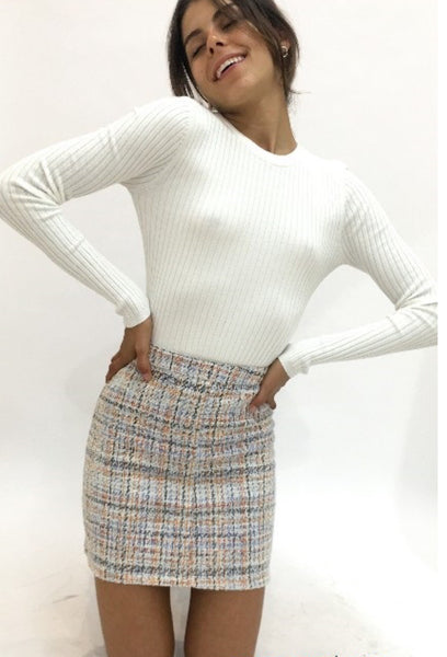 BRYONY TWEED SKIRT