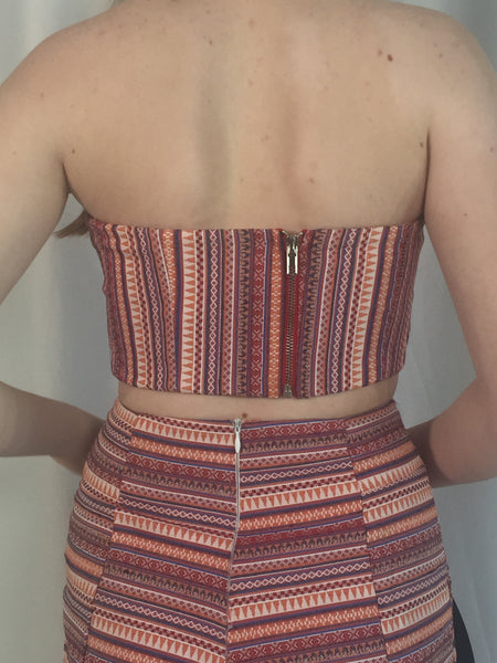 EVA STRIPED BUSTIER