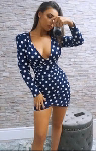 NASTASIA WRAP MINI DRESS