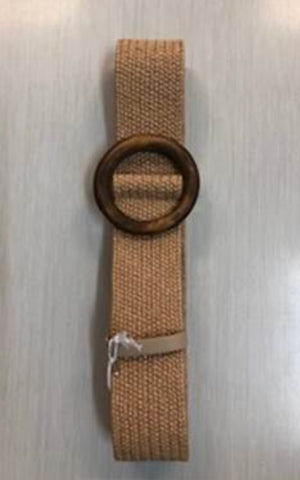 WOODEN BUCKLE ELASTIC BAND BELT