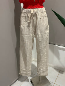 VACATION LINEN PANTS