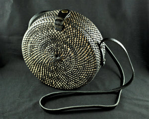 BEHATI  BLACK  RATTAN BAG