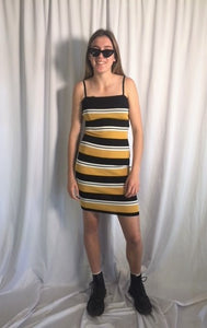ALEKI MUSTARD STRIPE DRESS