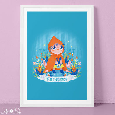 Red Riding Hood Kids Print by Ink & Elk. Designed in Australia.