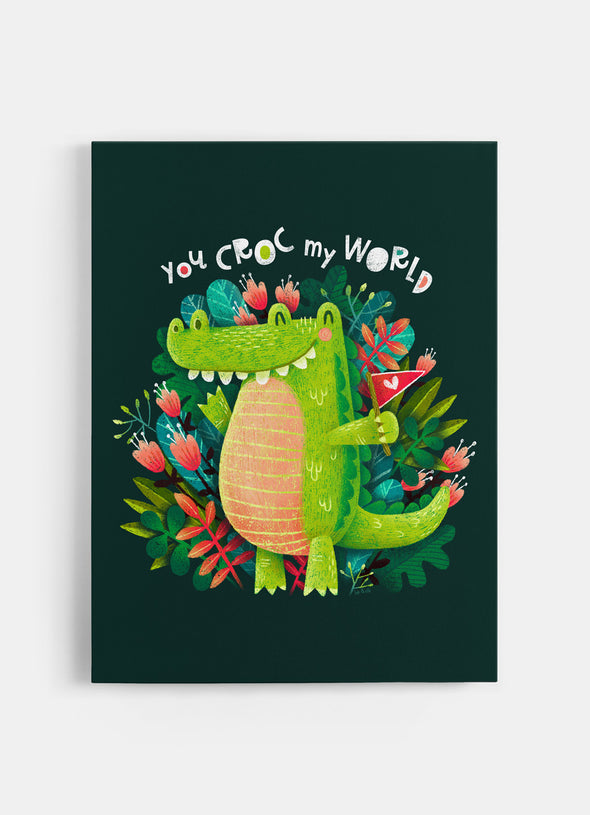 You Croc My World Nursery or Kids Print