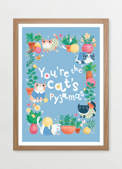 You are the Cat's Pyjamas Framed Nursery & Kids Print - Ink & Elk