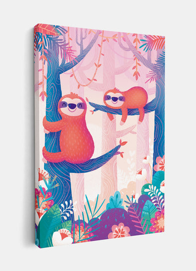 Sleepy Sloths Nursery or Kids Print