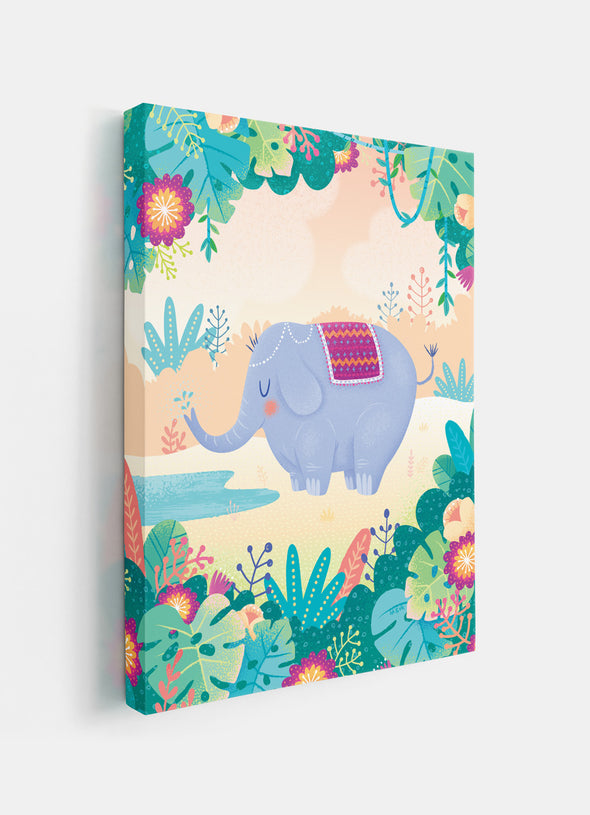 Elegant Jungle Elephant Nursery or Kids Print