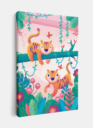 Terrific Jungle Tigers Nursery or Kids Print