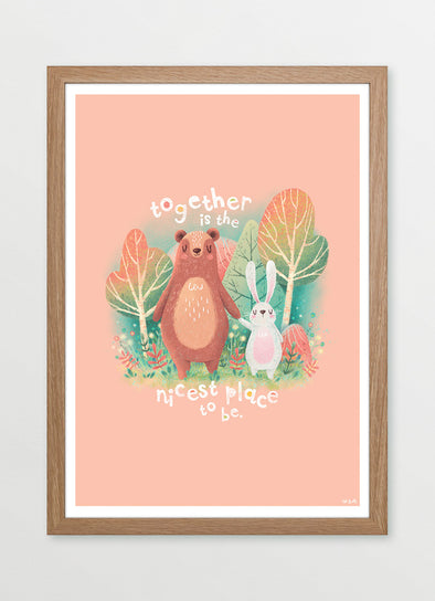 Together is the Nicest Place to Be Nursery or Kids Print