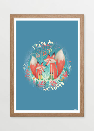 You're the Fox's Socks Nursery or Kids Print