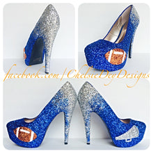 Football Glitter Platform Pumps, Cheerleader High Heels