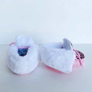 Pink Glitter Baby Booties, Light Pink Boots