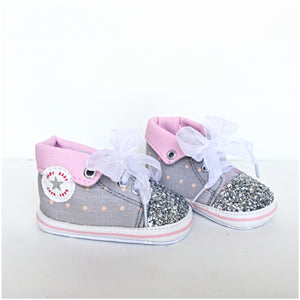 Pink Glitter Chuck Taylors, Light Pink High Top Converse