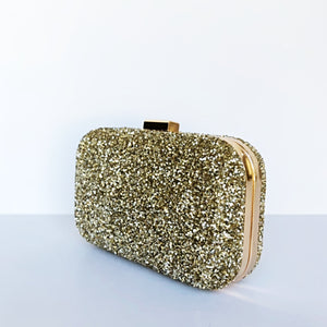 Glitter Clutch Bag - Gold Purse