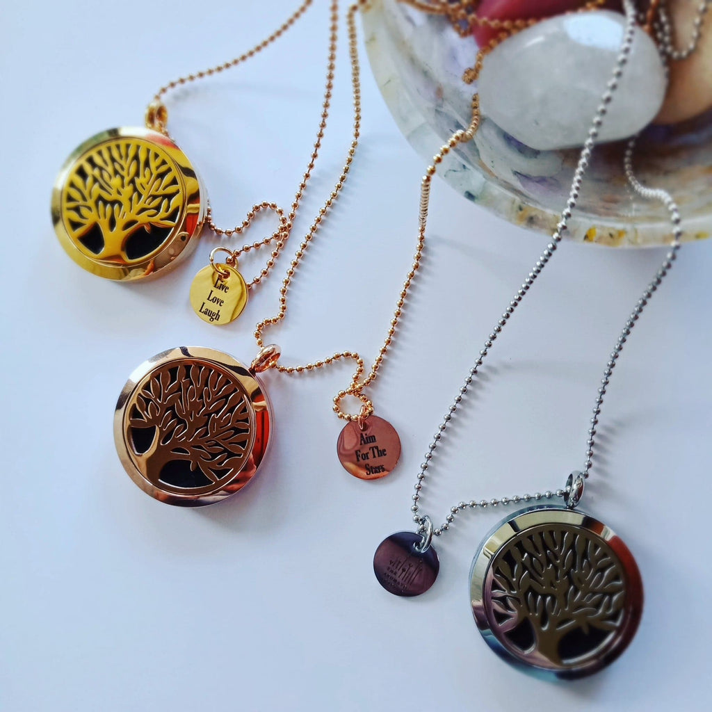 Tree of Life Diffuser Lockets