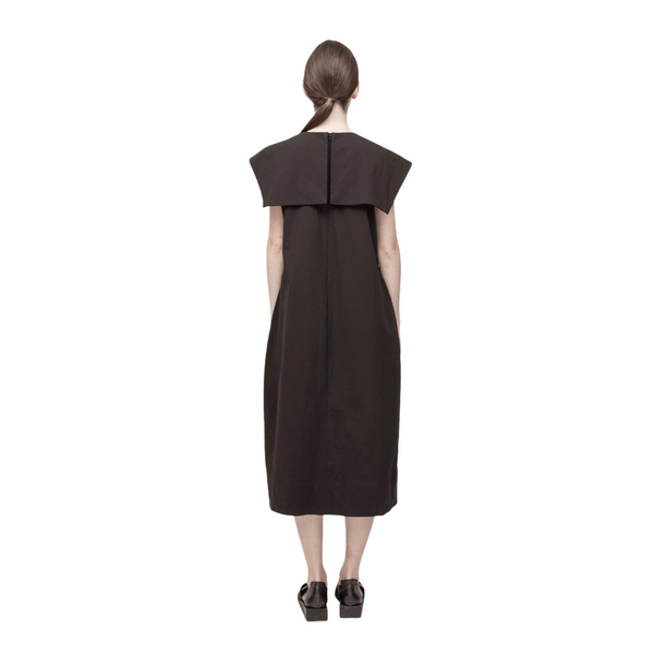 PERCEPTION Asymmetric Oversized Neck Panel Dress