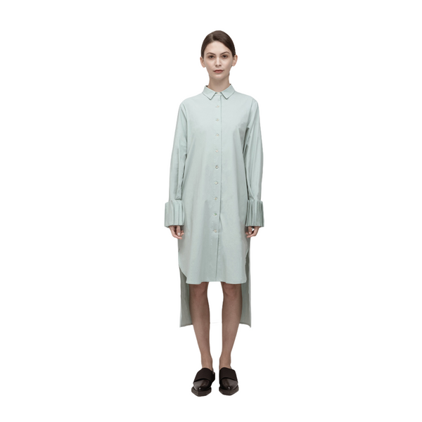 PERCEPTION Pleated Cuff Shirt Dress