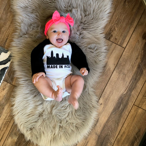 Made in CLE Cleveland Baby Onesie Anne Cate