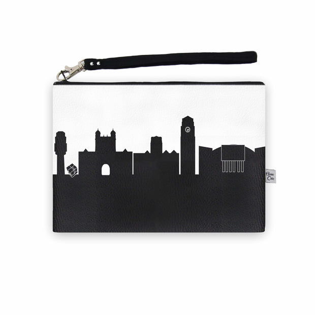 Ann Arbor MI Skyline Wristlet Clutch (Vegan Leather)