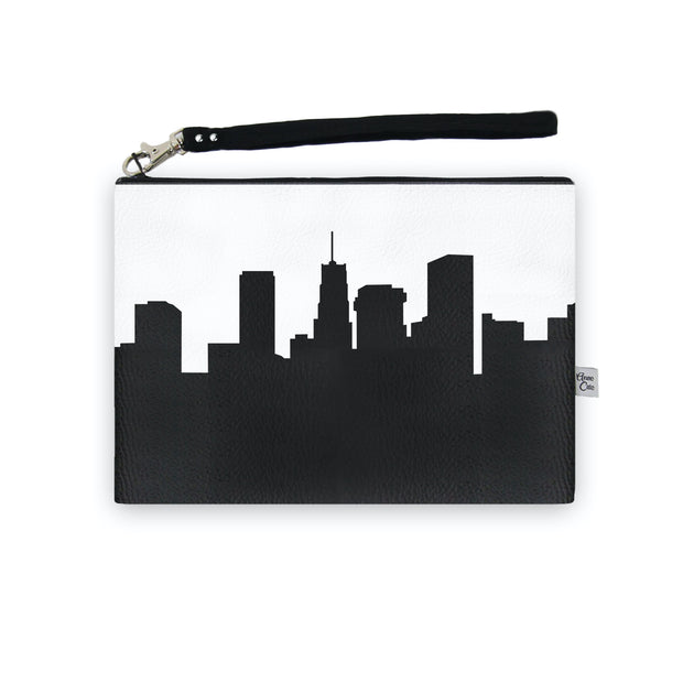 Akron OH Skyline Wristlet Clutch (Vegan Leather)