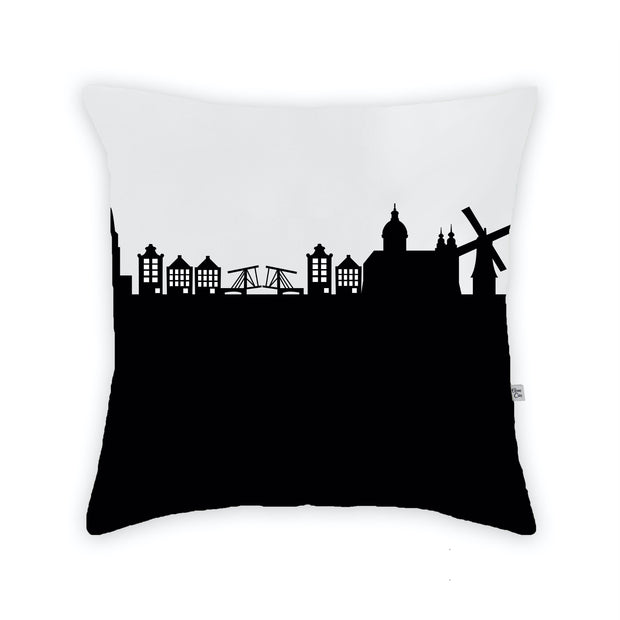 Amsterdam Netherlands Skyline Large Throw Pillow