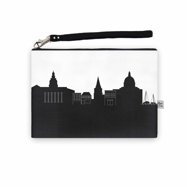 Annapolis MD Skyline Wristlet Clutch (Vegan Leather)