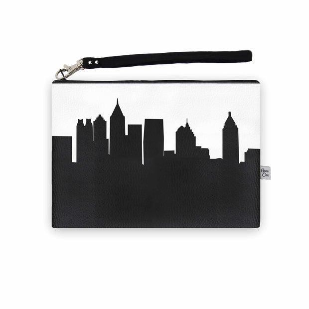Atlanta GA Skyline Wristlet Clutch (Vegan Leather)