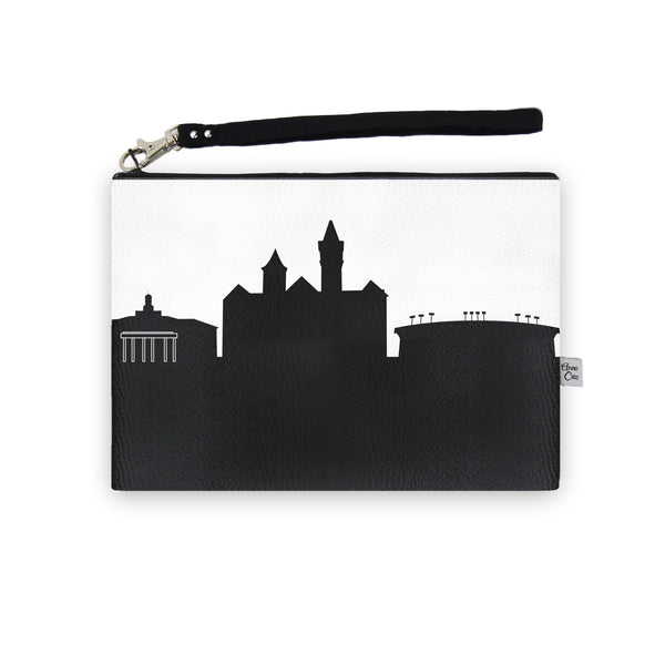 Vegan Leather Skyline Wristlet Clutch