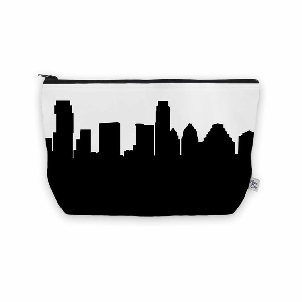 Austin TX Skyline Cosmetic Makeup Bag