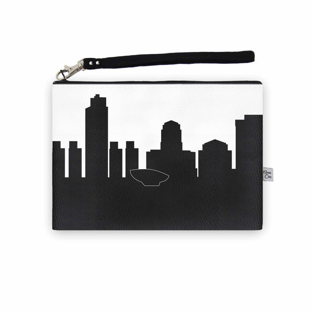 Albany NY Skyline Wristlet Clutch (Vegan Leather)