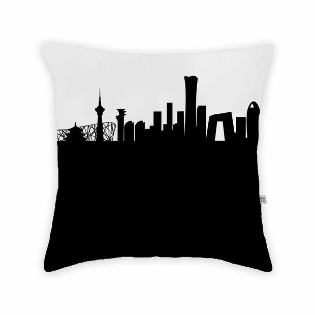 Beijing China Skyline Large Throw Pillow