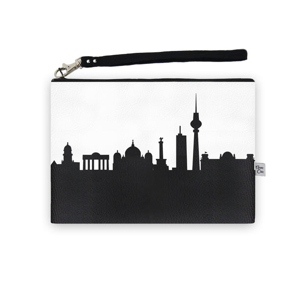 Berlin Germany Skyline Wristlet Clutch (Vegan Leather)