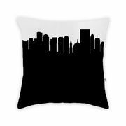 Boston MA Skyline Large Throw Pillow