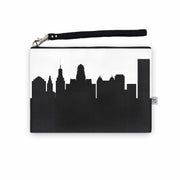 Buffalo NY Skyline Wristlet Clutch (Vegan Leather)