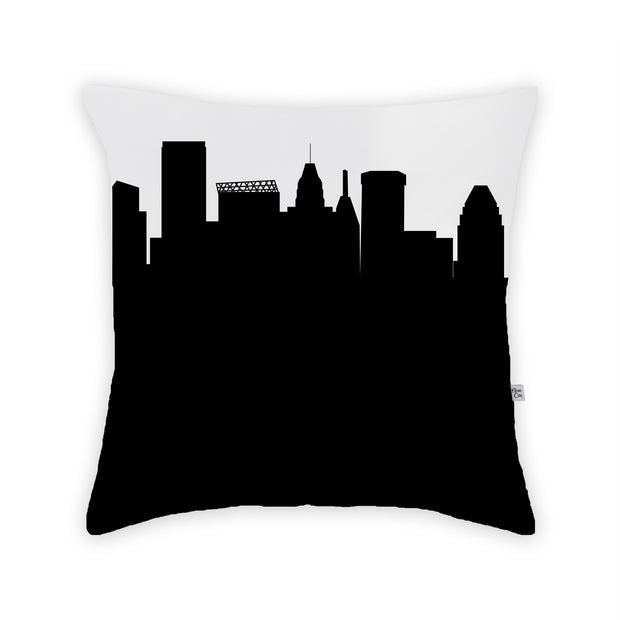 Baltimore MD Skyline Large Throw Pillow