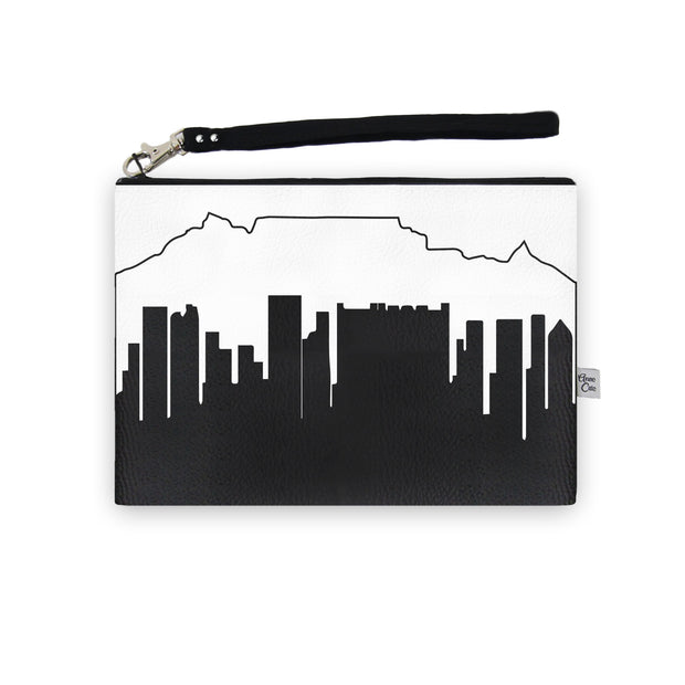 Cape Town Africa Skyline Wristlet Clutch (Vegan Leather)