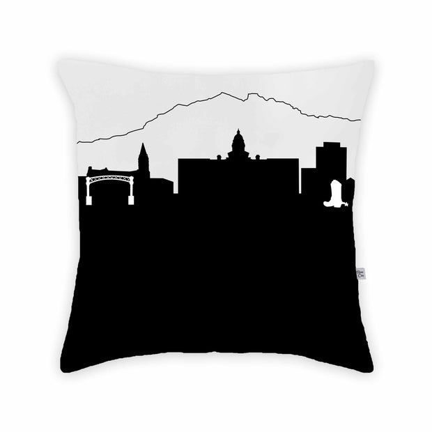 Cheyenne WY Skyline Large Throw Pillow