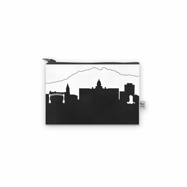 Cheyenne WY Skyline Mini Wallet (Vegan Leather)