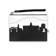 Cheyenne WY Skyline Wristlet Clutch (Vegan Leather)
