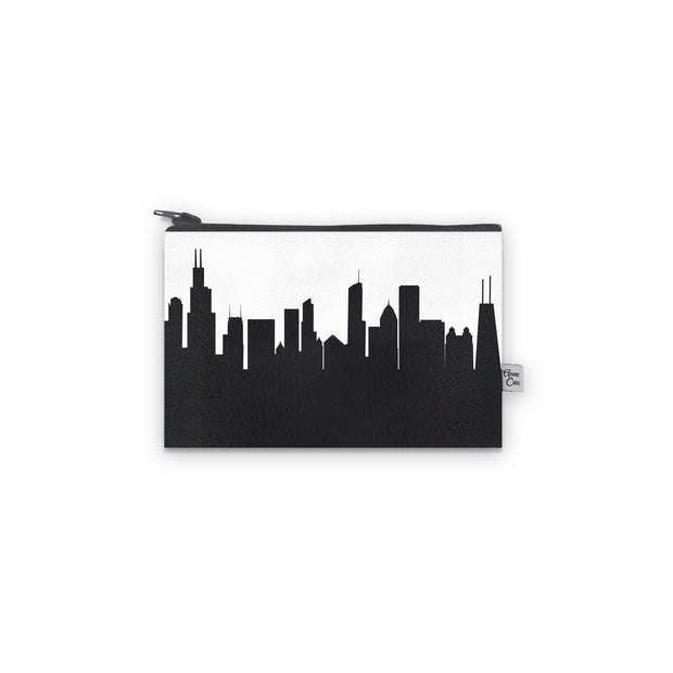Chicago IL Skyline Mini Wallet (Vegan Leather)