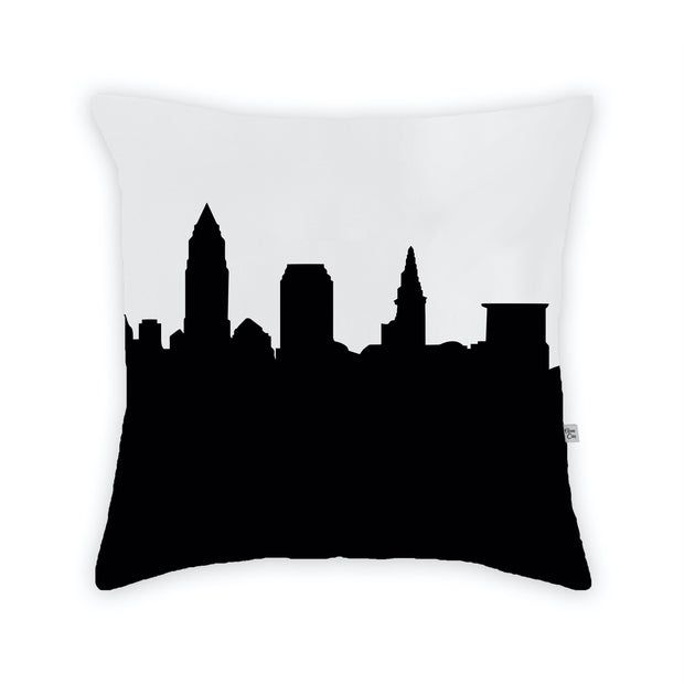 Cleveland OH Skyline Large Throw Pillow