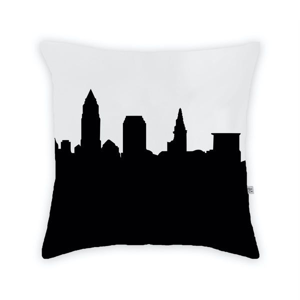 Cleveland Large Throw Pillow by Anne Cate