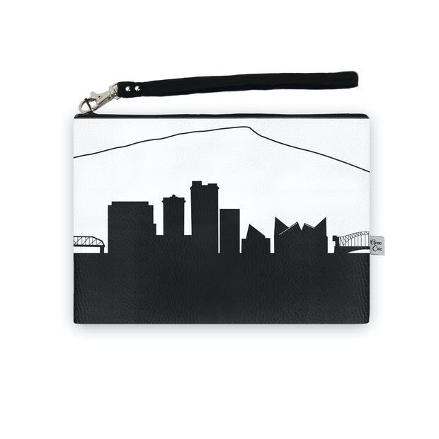 Chattanooga TN Skyline Wristlet Clutch (Vegan Leather)