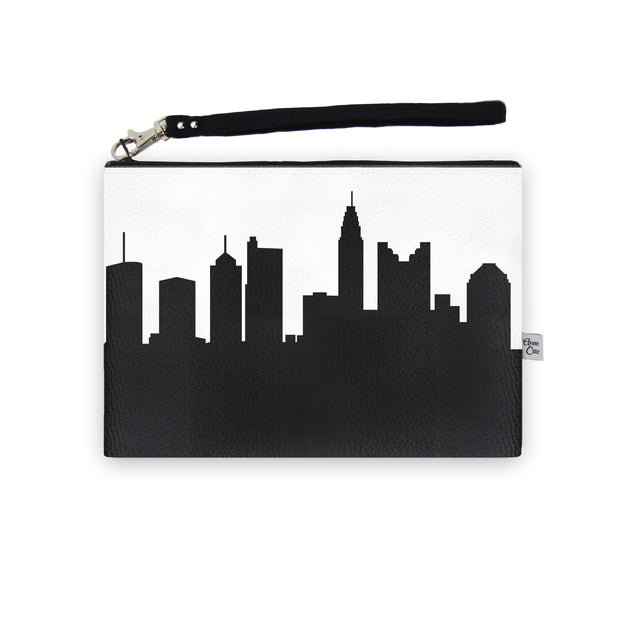 Columbus OH Skyline Wristlet Clutch (Vegan Leather)