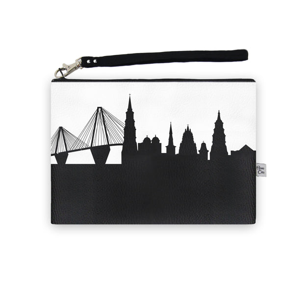 Charleston SC Skyline Wristlet Clutch (Vegan Leather)